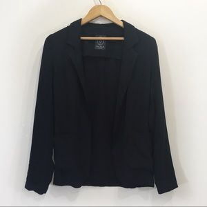 Talula Black Blazer Pockets Open Front Sz 0